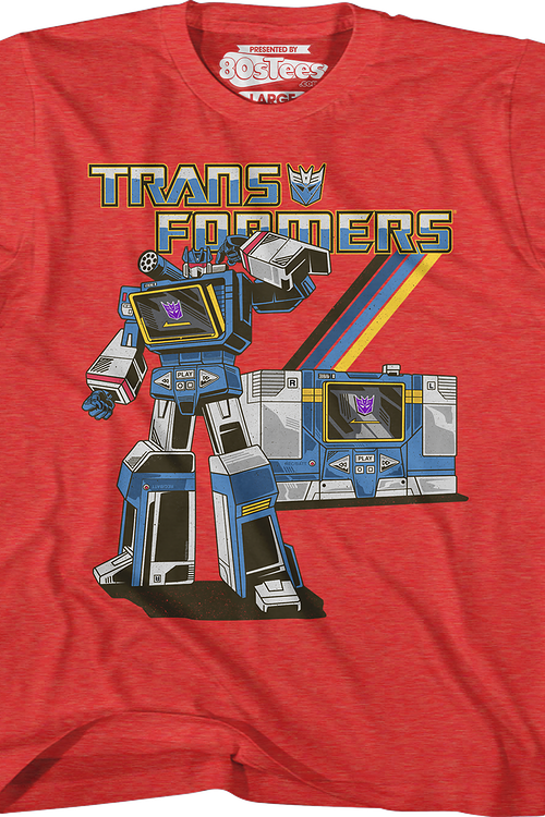 Boys Retro Soundwave Transformers Shirt