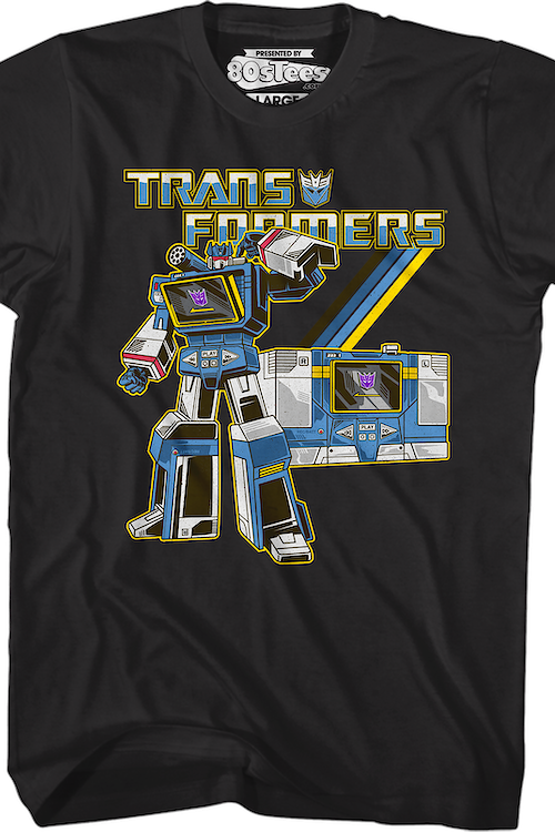 Black Retro Soundwave Transformers T-Shirt