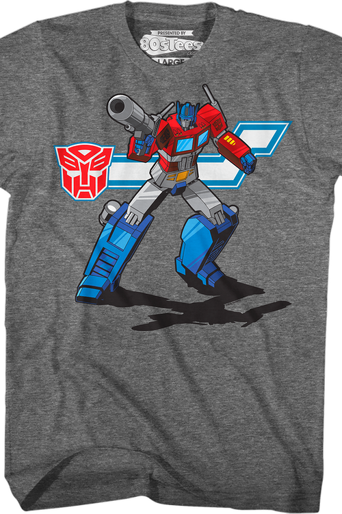 Action Pose Optimus Prime Transformers T-Shirt