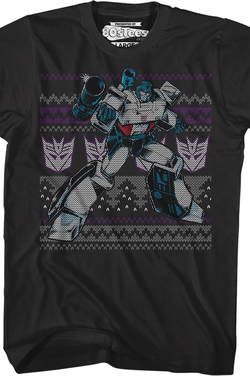 Megatron Faux Ugly Christmas Sweater Transformers T-Shirt