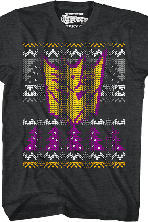 Decepticons Faux Ugly Christmas Sweater Transformers T-Shirt