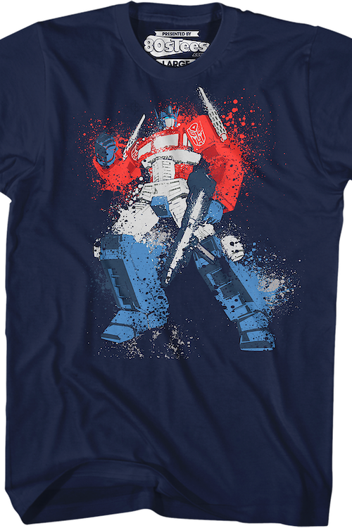 Optimus Prime Paint Splatter Transformers T-Shirt