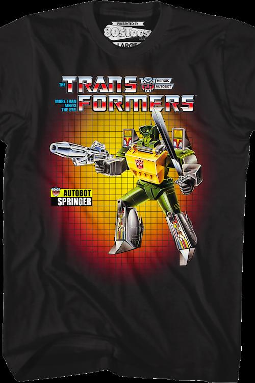 big sale fc659 12342 Box Art Springer Transformers T-Shirt