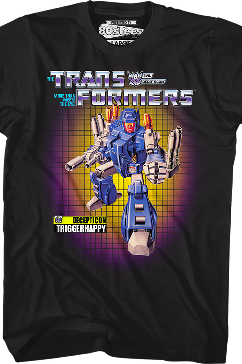 Box Art Triggerhappy Transformers T-Shirt
