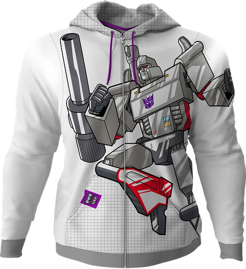 Megatron Transformers Premium Zippered Hoodie