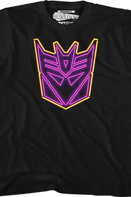 Youth Neon Decepticons Logo Transformers Shirt
