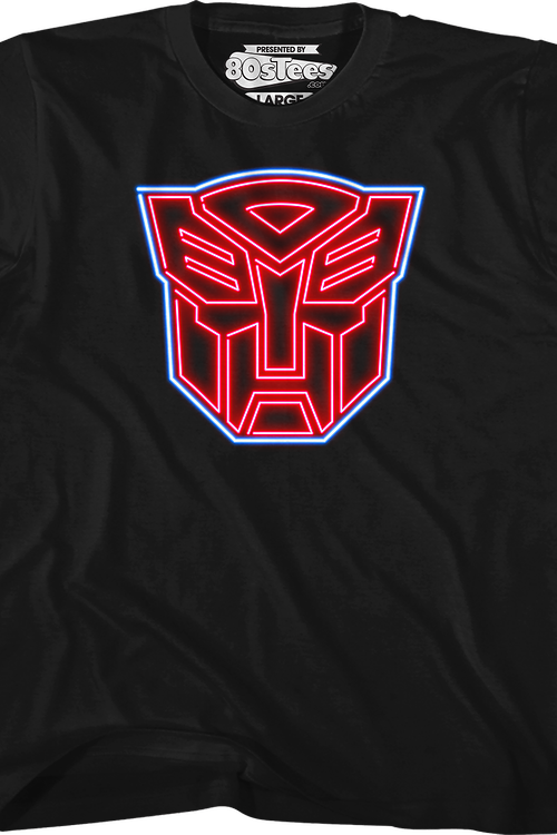 Youth Neon Autobots Logo Transformers Shirt