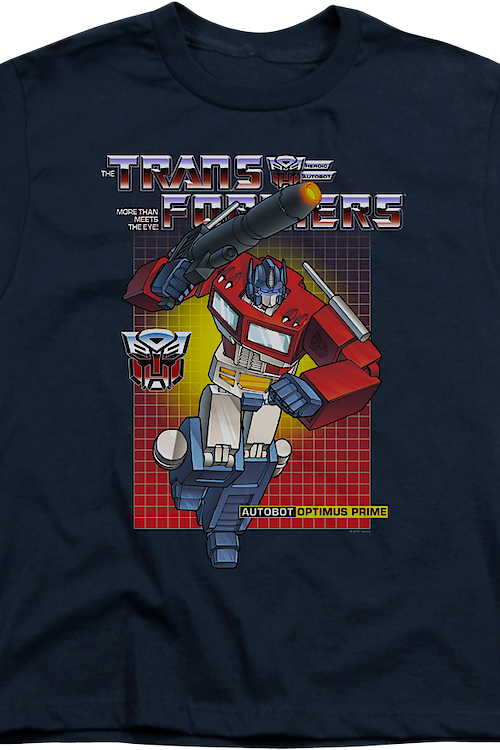 Youth Autobot Optimus Prime Transformers Shirt