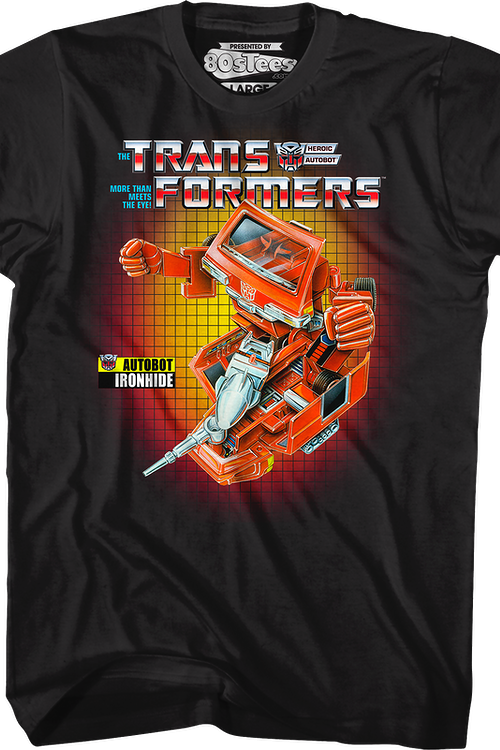 Box Art Ironhide Transformers T-Shirt