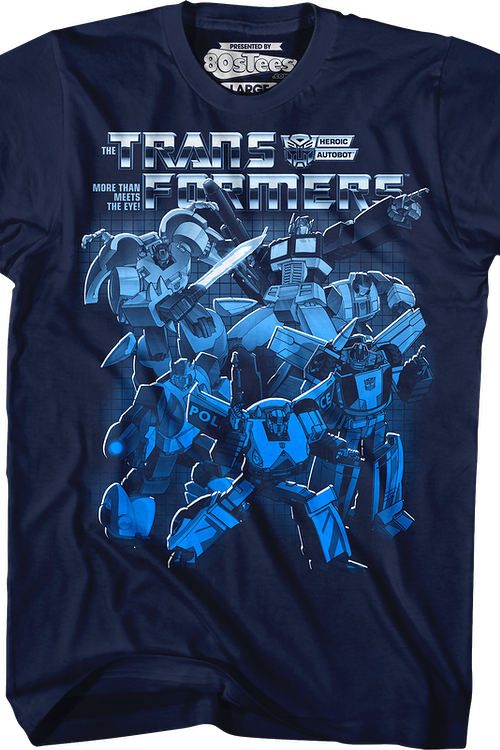 Autobots Blue Collage Transformers T-Shirt