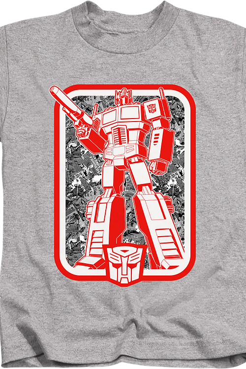Youth Autobots Leader Optimus Prime Transformers Shirt