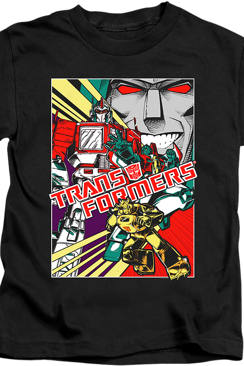 Youth Comic Poster Transformers Shirt