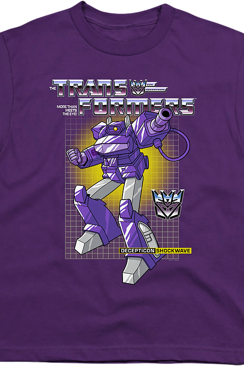 Youth Decepticon Shockwave Transformers Shirt