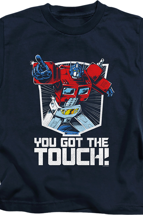 Youth Optimus Prime You Got The Touch Transformers Shirt