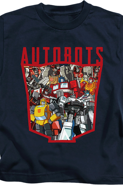 Youth Autobots Logo Collage Transformers Shirt