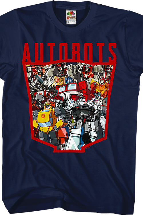 Autobots Logo Collage Transformers T-Shirt