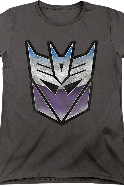 Womens Decepticon Vintage Logo Transformers Shirt