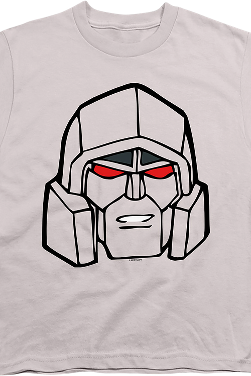 Youth Megatron Head Shot Transformers Shirt