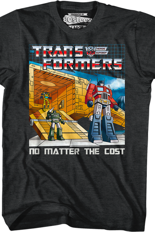 No Matter The Cost Black Heather Transformers T-Shirt