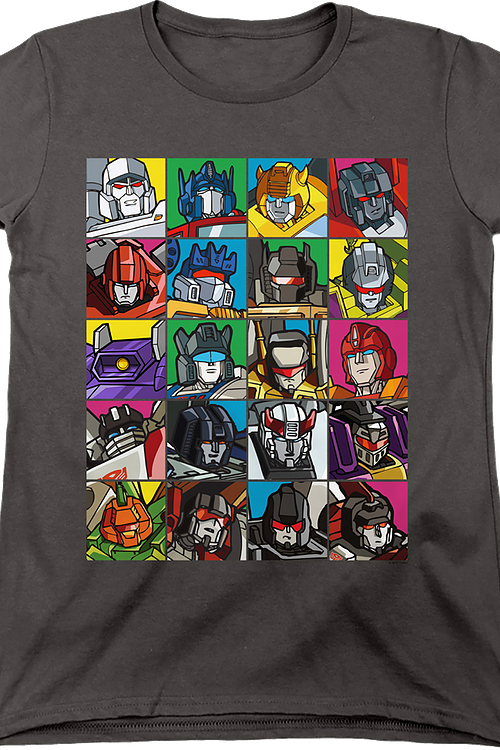 Womens Robot Collage Transformers Shirt