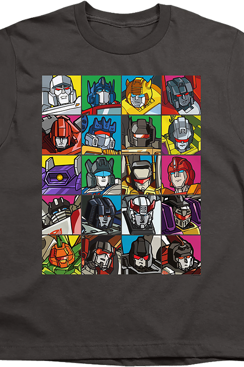 Youth Robot Collage Transformers Shirt