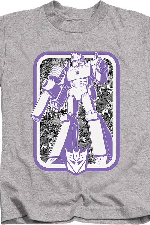 Youth Decepticons Leader Megatron Transformers Shirt