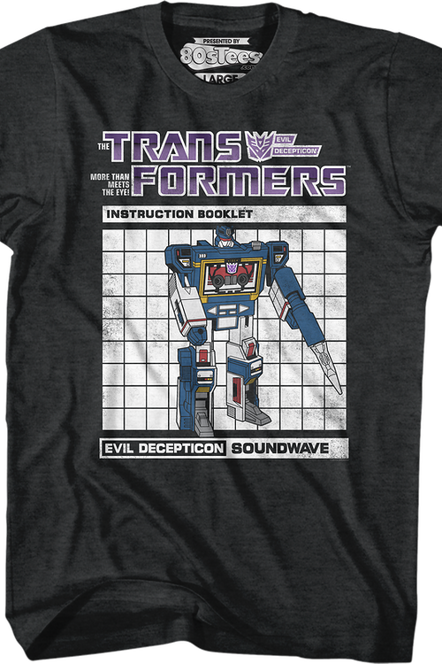 Soundwave Instruction Booklet Transformers T-Shirt