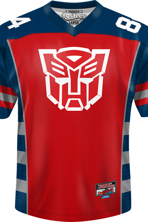 Autobots Optimus Prime Transformers Football Jersey