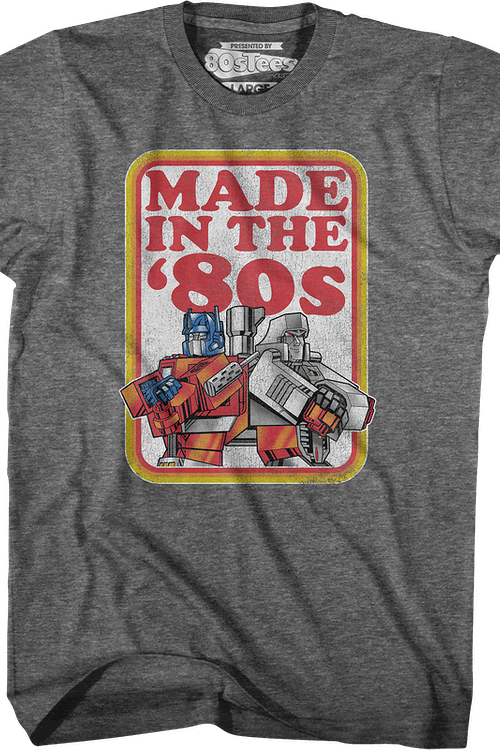 Optimus Prime And Megatron Made In The '80s Transformers T-Shirt
