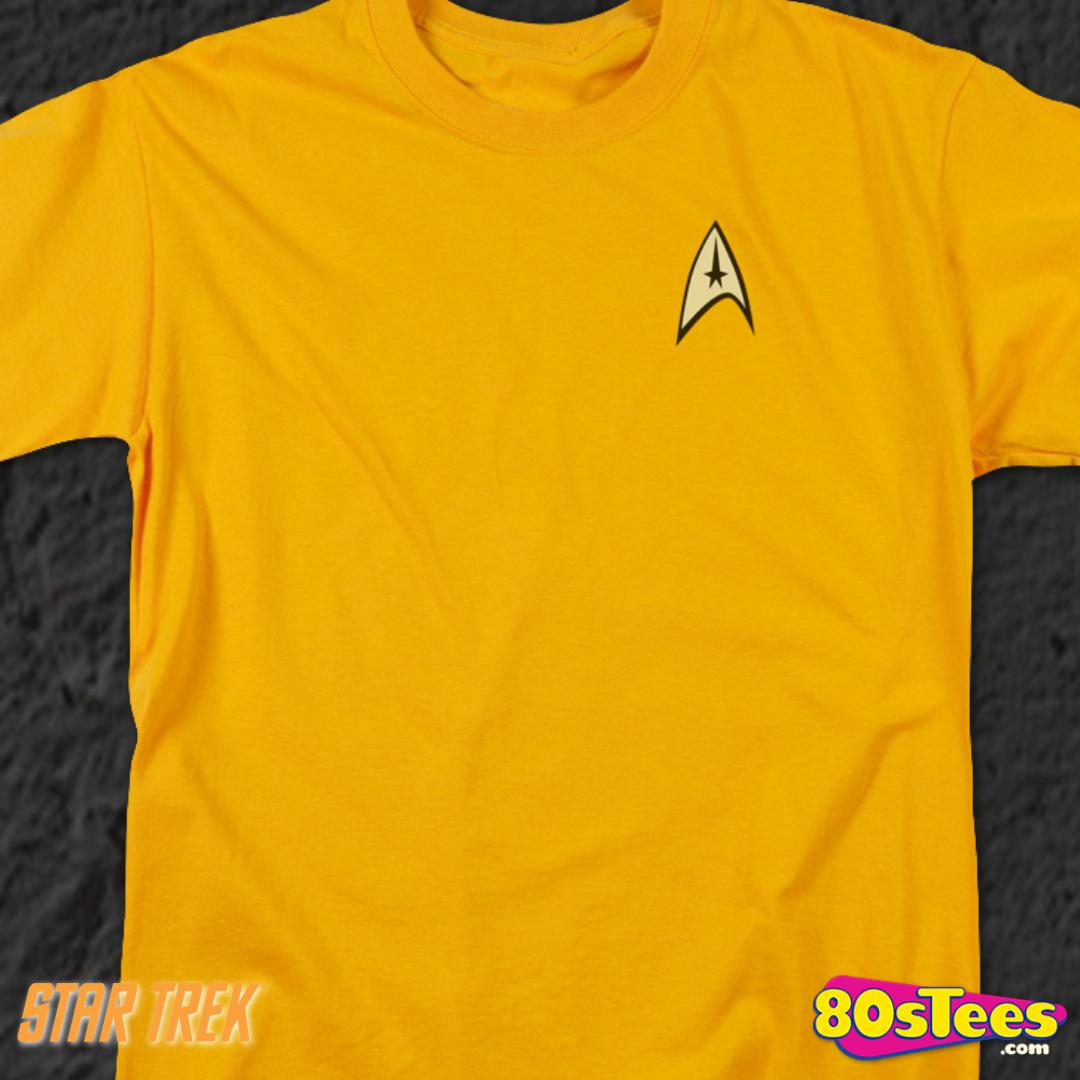 Star Trek TV Series Captain Kirk Command Uniform Big Boys T-Shirt Tee
