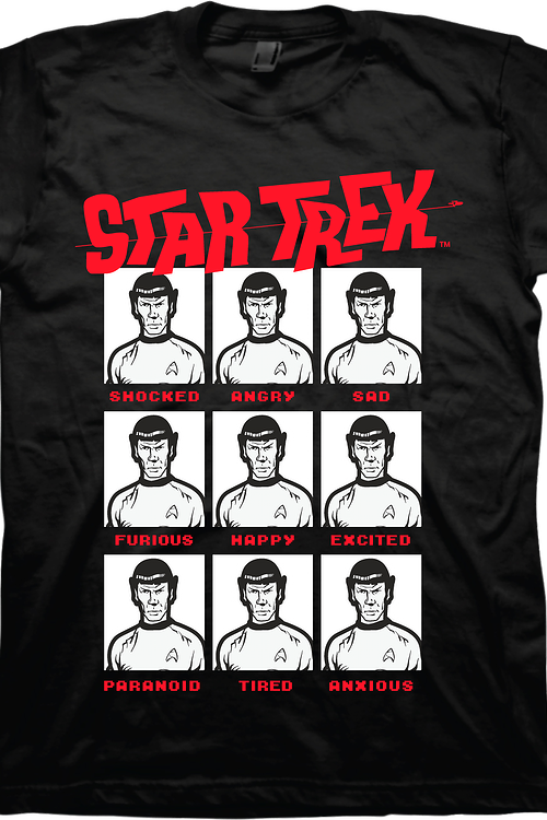 Emotions Of Spock Star Trek T-Shirt