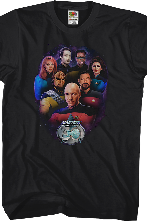 Crew 30th Anniversary Star Trek The Next Generation T-Shirt
