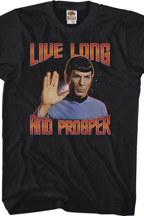 Black Live Long and Prosper Star Trek T-Shirt