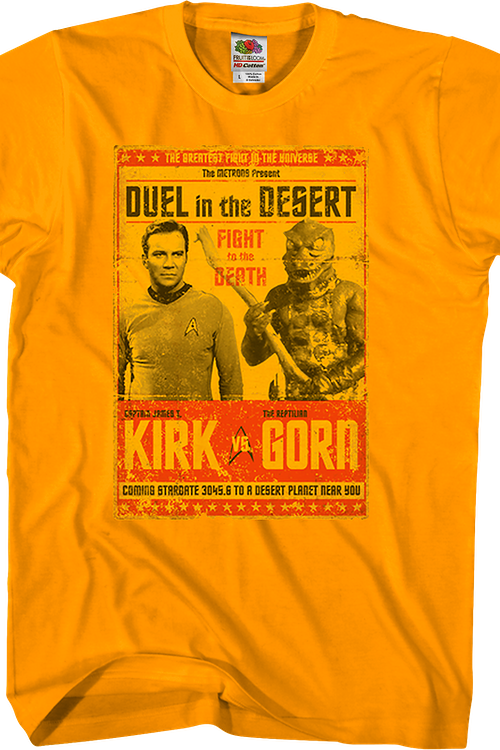 Kirk vs Gorn Star Trek T-Shirt