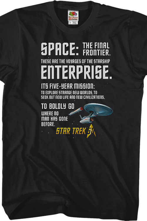 Where No Man Has Gone Before Star Trek T-Shirt