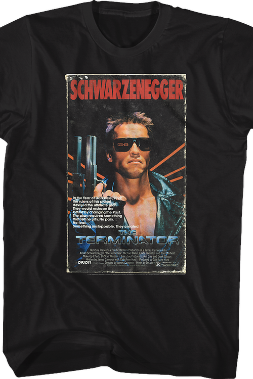 VHS Box Cover Artwork Terminator T-Shirt