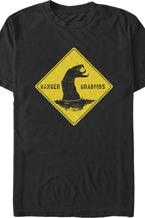 Danger Graboids Sign Tremors T-Shirt