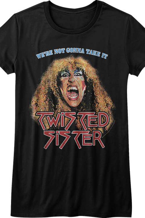 Junior We're Not Gonna Take It Twisted Sister Shirt