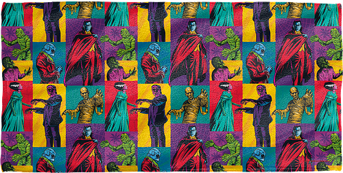 Pop Art Universal Monsters Towel