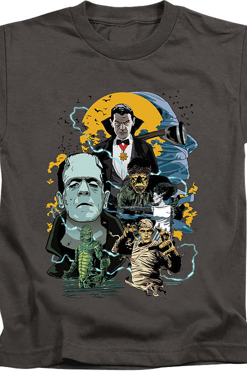 Youth Universal Monsters Collage Shirt