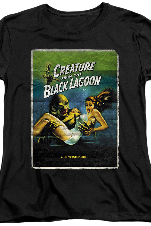 Womens Movie Poster Creature From The Black Lagoon Shirt