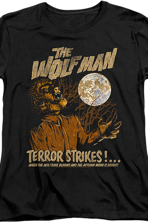Womens Wolf Man Shirt