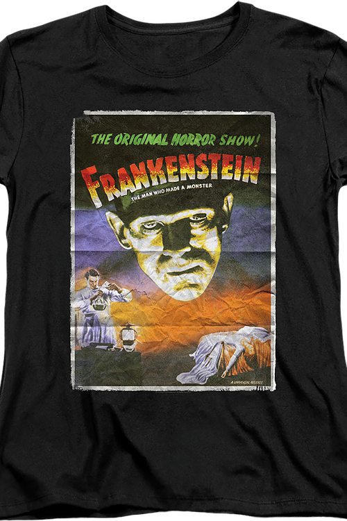 Womens Movie Poster Frankenstein Shirt