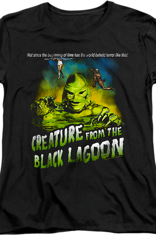 Womens Tagline Creature From The Black Lagoon Shirt