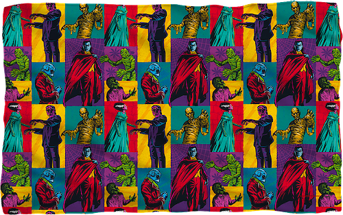 Pop Art Universal Monsters 36x58 Fleece Blanket
