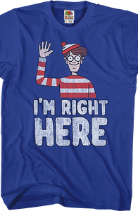 Right Here Where's Waldo T-Shirt