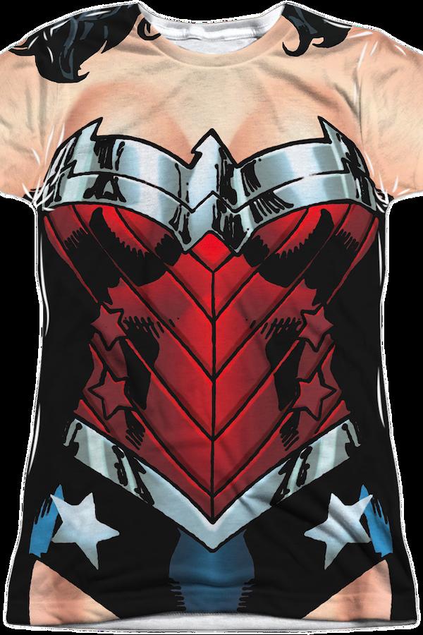 Wonder Woman Costume T-Shirt: DC Comics Wonder Woman T-Shirt