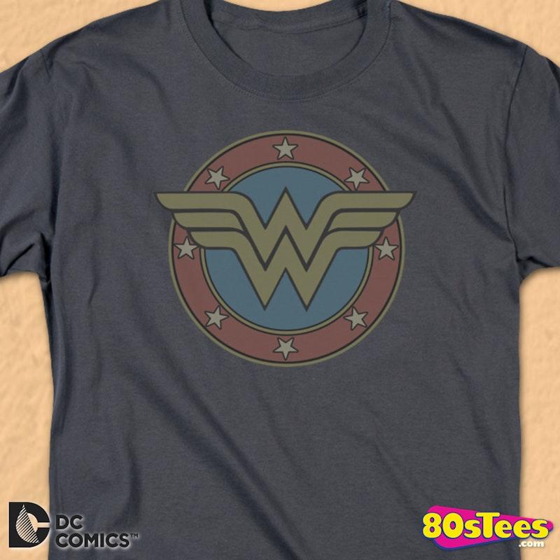 e468aca4 Classic Wonder Woman Logo T-Shirt: Wonder Woman Mens T-Shirt