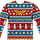 Wonder Woman Ugly Faux Christmas Sweater Long Sleeve Tee
