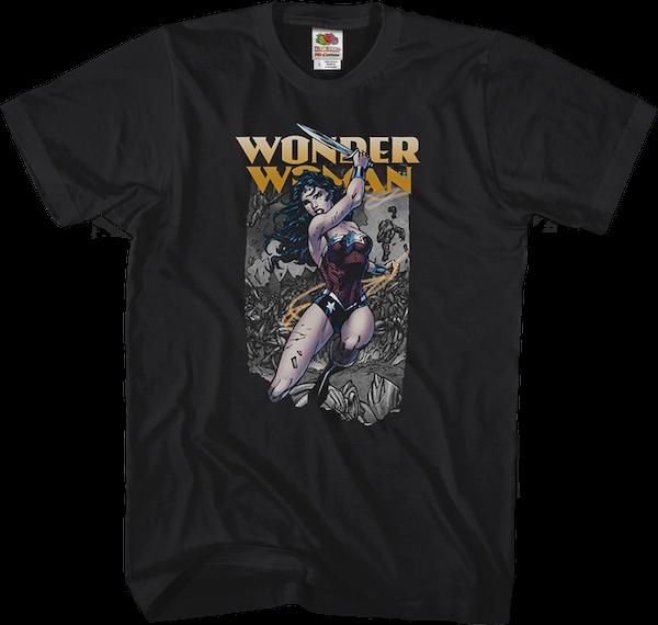 Mens Sublimated Hq Wall Art T-Shirt Batman